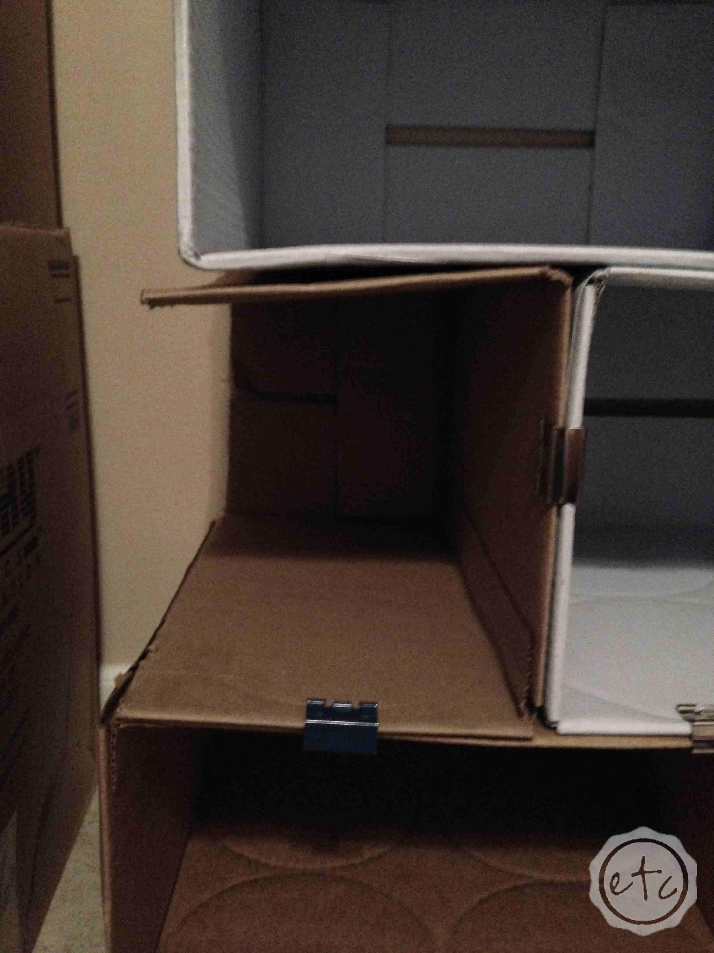 Diy Cardboard Bookcase Happily Ever After Etc - Cardboard-bookshelves